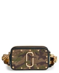 Marc Jacobs Snapshot Camo Crossbody Bag Green