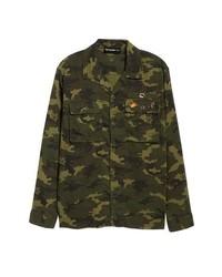Denim camo shirt jacket medium 8611813
