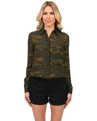 Olive Camouflage Dress Shirt