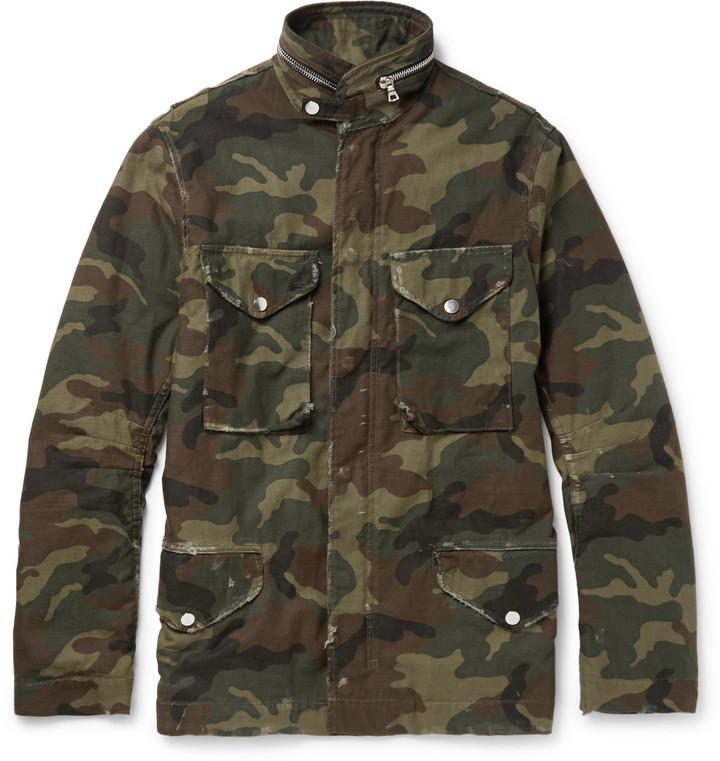 1dc20fcf37749 Amiri M 65 Camouflage Print Cotton Canvas Field Jacket, $1,625   MR ...