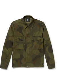 Paul Smith Ps By Slim Fit Camouflage Print Cotton Twill Field Jacket