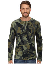 Olive Camouflage Henley Shirt
