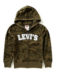 Levi's Big Boys 8 20 Baldwin Camouflage Printed Marled French Terry Hoodie