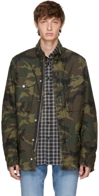 03c059031f767 Amiri Green Camo M65 Jacket, $780   SSENSE   Lookastic.com