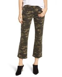 PROSPERITY DENIM Camo Print Crop Flare Jeans