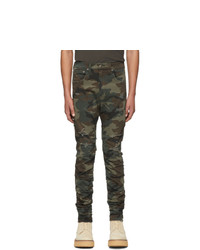 R13 Multicolor Camo Rips Skywalker Jeans