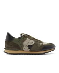 Valentino Green Garavani Rockrunner Sneakers