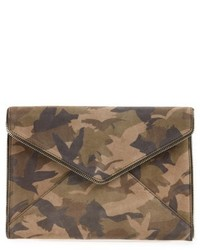 Leo camo leather clutch green medium 5169308