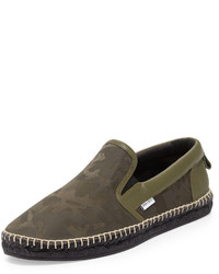 Vlad camo print espadrille slip on sneaker green medium 641106