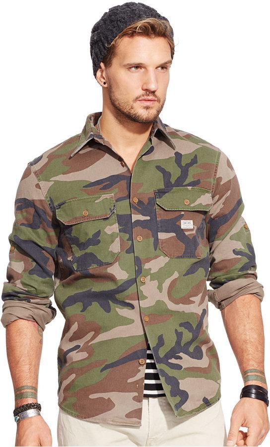 15601c3b7 ... Denim   Supply Ralph Lauren Camo Military Shirt ...