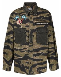 Diesel Camouflage Embroidered Patch Shirt