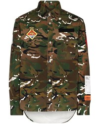 Heron Preston Camouflage Pattern Shirt