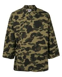 A Bathing Ape Camouflage Print Kimono Shirt
