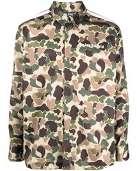Palm Angels Camouflage Print Track Shirt