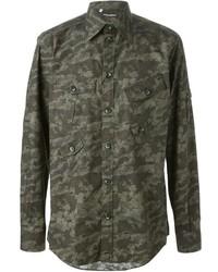 Dolce & Gabbana Camouflage Print Shirt
