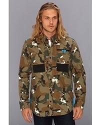 Lrg L R G Wolfland Ls Woven Shirt