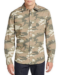 Saks Fifth Avenue Modern Fit Camo Sportshirt