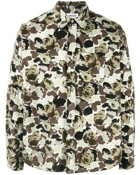 Kenzo Rose Camouflage Print Long Sleeve Shirt