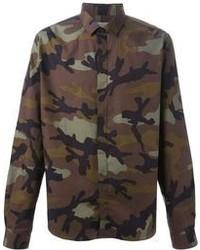 Valentino Camouflage Print Shirt