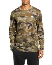 Nike Dry Long Sleeve Camo T Shirt