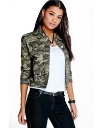 Boohoo Ally Camouflage Denim Jacket