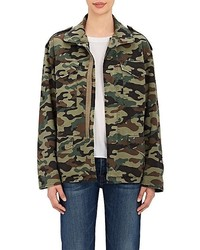 Nili Lotan Ashton Camouflage Cotton Blend Jacket