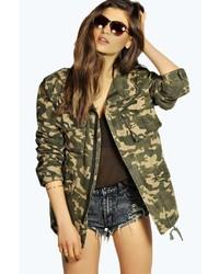Boohoo Jenny Camouflage Utility Jacket