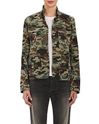 Nili Lotan Cambre Camouflage Cotton Blend Jacket