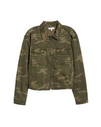 Good American Camo Print Military Jacket