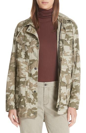 ATM Anthony Thomas Melillo Camo Stretch Cotton Field Jacket