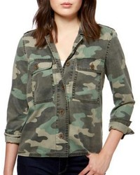 Lucky Brand Camouflage Long Sleeve Jacket