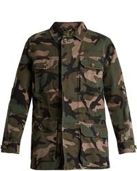Valentino Camouflage Print Cotton Jacket