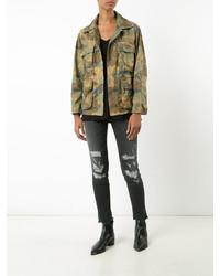 Amiri Camouflage Print Jacket