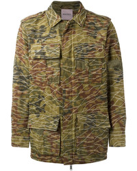 Camouflage print military jacket medium 6711289