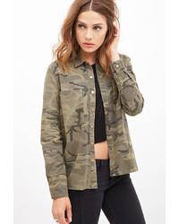 Forever 21 Camouflage Utility Jacket