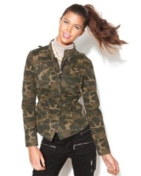 Celebrity Pink Juniors Jacket Camo Print Studded Army