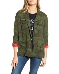 Pam & Gela Contrast Cuff Camo Jacket