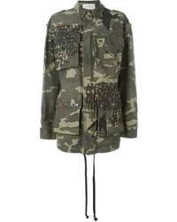 Faith Connexion Camouflage Print Cargo Jacket