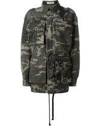 Faith Connexion Grafitti Print Camouflage Jacket