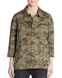 Hudson emmet camo boyfriend jacket medium 446238