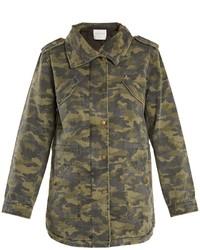 Velvet by Graham & Spencer Irene Camouflage Print Point Collar Jacket