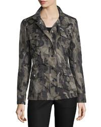 Jane Post Long Sleeve Camo Print Jacket