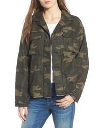 Levi's Oversize Cotton Canvas Camo Shirt Jacket