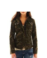 PINK ENVELOPE Military Camouflage Jacket