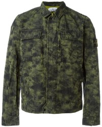 Stone Island Camouflage Short Military Jacket