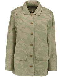 Current/Elliott The Foxhunt Camouflage Print Cotton Canvas Jacket