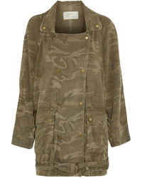 Current/Elliott The Infantry Camouflage Print Twill Jacket