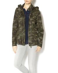 Zenana Outfitters Camo Jacket Wstud