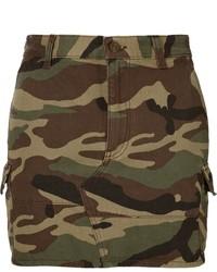 Saint laurent mini camouflage skirt medium 543555