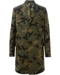 Valentino Camouflage Single Breasted Coat